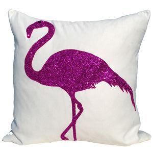 Strutting Flamingo Fuchsia, Luxury Cushion - cushions