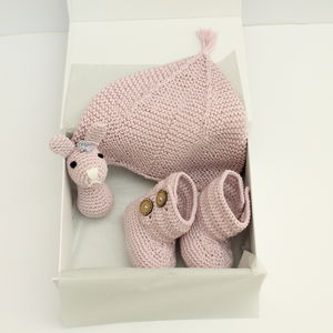 Handmade Three Piece Baby Gift Set