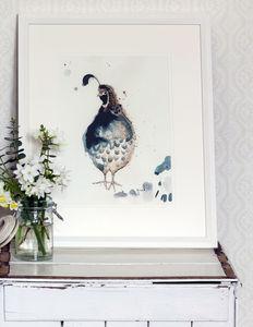 Quail Print - contemporary art