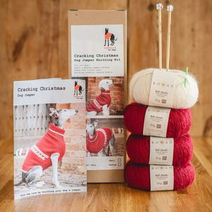 Cracking Christmas Dog Jumper Knitting Kit - pets sale
