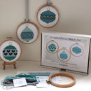 Christmas Baubles Cross Stitch Kit