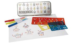 Stencil And Pen Robot Set