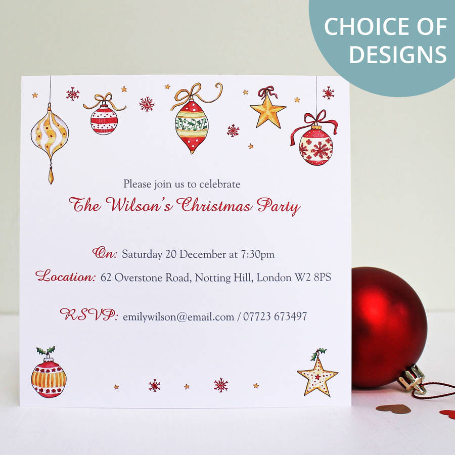 Christmas Party Invitations | notonthehighstreet.com