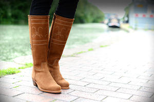 Huxton Suede Riding Boots - shoes