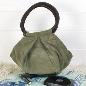 Angela Suede Bag - bags & purses