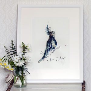 Blue Cockatoo Print