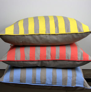 Danish Striped Cushion - living room