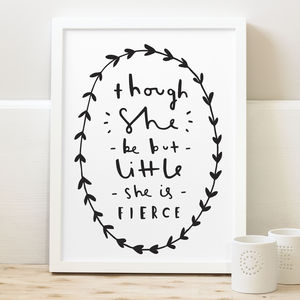 'She Is Fierce' Print - gifts for her