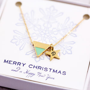 Enamel Triangle Necklace - 16th birthday gifts