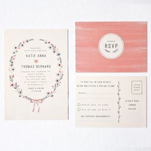 Floral Vintage Style Wedding Stationery - pretty pastels