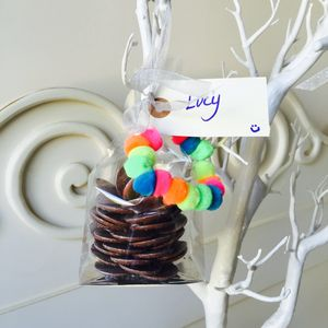 Personalised Edible Chocolate Christmas Bauble - tree decorations