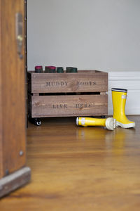 'Muddy Boots' Crate On Skates - storage