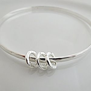 30th Birthday Silver Bangle - 30th birthday gifts