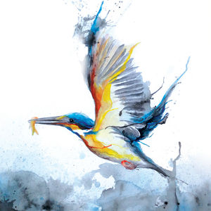 Kingfisher With Fish No.Four - art & pictures