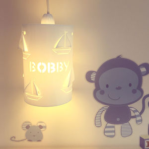 Personalised Boat Ceiling Shade - children's room