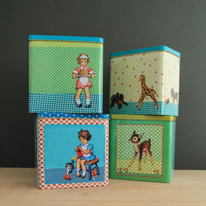 Retro Style Storage Tin