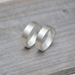 Personalized Wedding Band In Sterling Silver