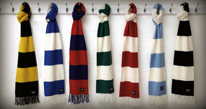 Luxury Cashmere Football Scarf Gift Boxed Grande Size - mens