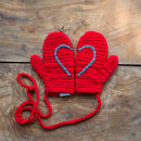 Red Child's Heart Mittens