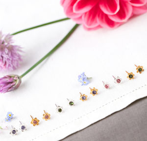 Forget Me Not Stud Earrings - earrings