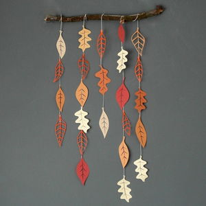 Autumn Leaves Paper Garland - garlands & bunting