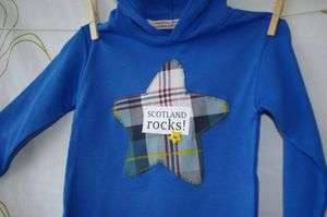 Boy's 'Scotland Rocks' Hooded Top