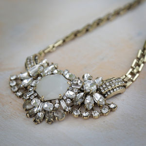 Vintage Ice Flower Necklace - statement jewellery