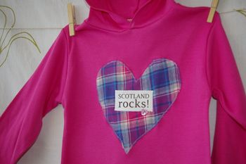 Girl's 'Scotland Rocks' Hooded Top