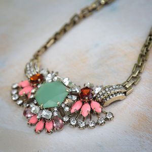 Vintage Flower Necklace - necklaces & pendants
