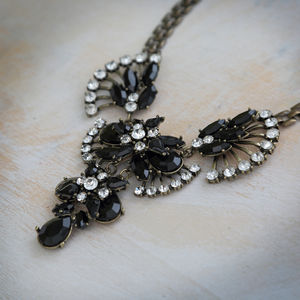Black Crystal Rock Necklace