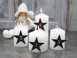 Numbered Star Advent Candle Pins