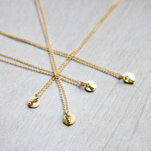 Petite Gold Pendant Necklace