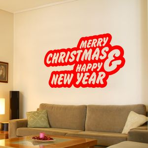 Merry Christmas And Happy New Year - wall stickers