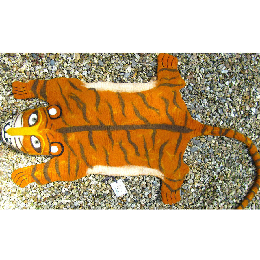 Raj The Tiger Rug By Sew Heart Felt