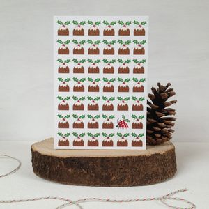 A Posse Of Puddings Christmas Card - cards