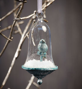 Apothecary Bird And Snow Hanging Decoration