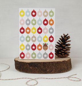 A Bonanza Of Baubles Christmas Card - christmas cards