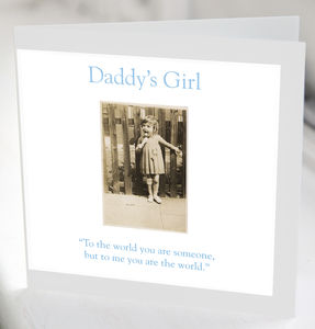 Daddy's Girl Greeting Card - birthday cards