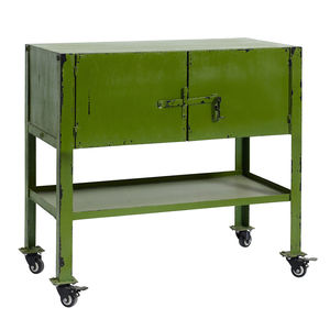 Wheeled Metal Cabinet In Two Colours - furniture