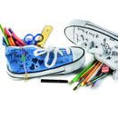Blue Trainer Pencil Case With Washout Pens