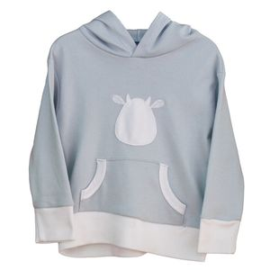 Long Sleeve Hoodie With Cow - clothing