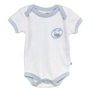 Embroidered Short Sleeve Bodysuit - babygrows