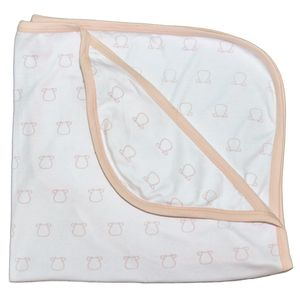Cow Outline Single Layer Blanket - baby's room