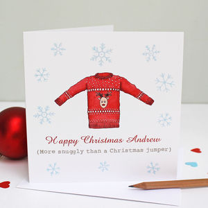 Personalised Festive Jumper Christmas Card - christmas cards: packs