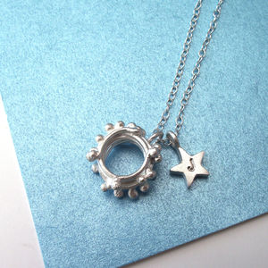 Personalised Garland And Star Necklace - necklaces & pendants