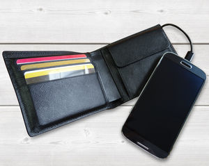 Phone Charger Italian Leather Wallet