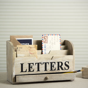 Wooden Letter Rack - storage & organisers