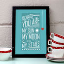 Personalised Sun Moon And Stars Love Print