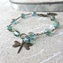 Vintage Bronze Dragonfly Bracelet
