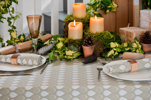 Isabella Stone Organic Table Cloth - christmas home accessories